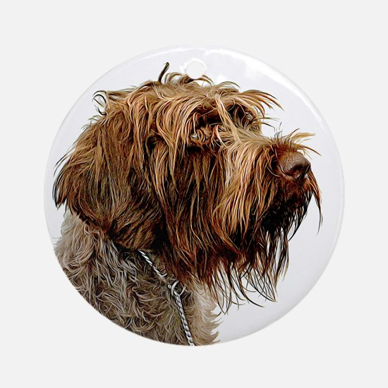 Wirehaired Pointing Griffon Round Ornament