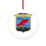 USS Barbero (SSG 317) Ornament (Round)