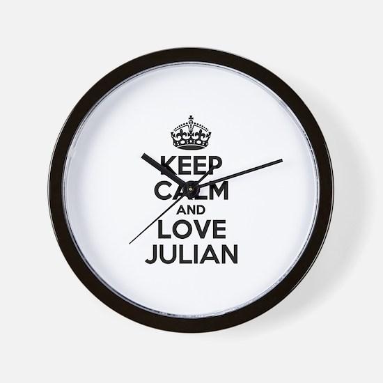 Keep Calm and Love JULIAN Wall Clock