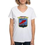 USS Barbero (SSG 317) Women's V-Neck T-Shirt