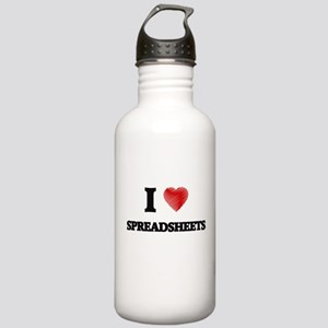 I love Spreadsheets Stainless Water Bottle 1.0L