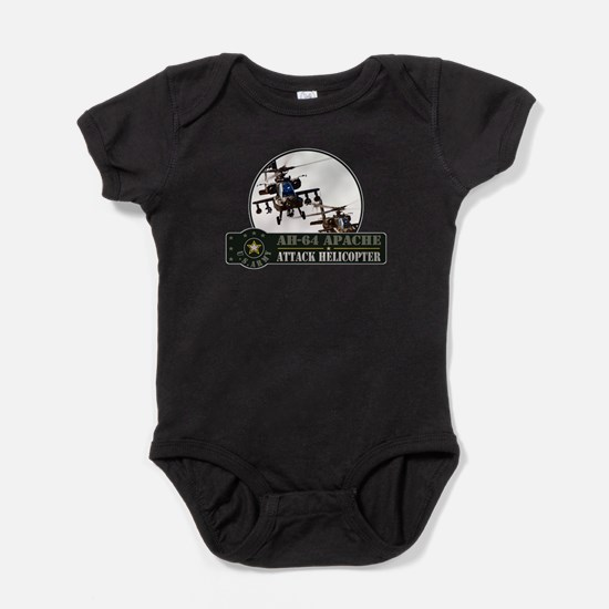 Cute Attack helicopter Baby Bodysuit