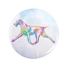 German Wirehaired Pointer Button