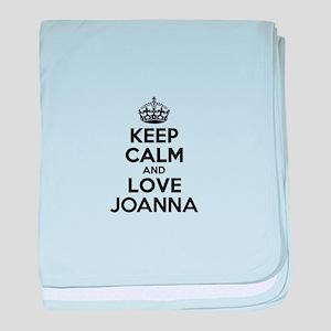 Keep Calm and Love JOANNA baby blanket