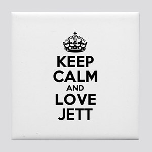 Keep Calm and Love JETT Tile Coaster