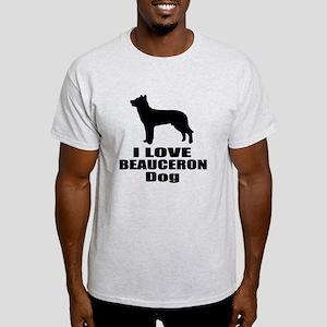 I Love Beauceron Dog Light T-Shirt