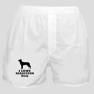 I Love Beauceron Dog Boxer Shorts