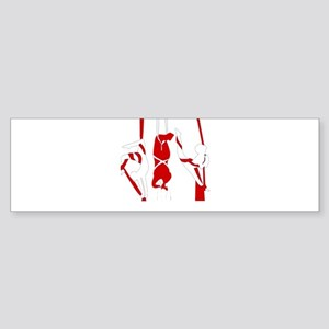 Aerial Silks Bumper Sticker