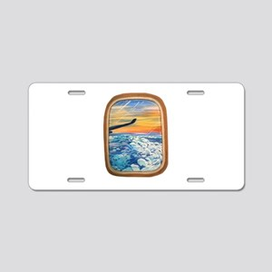 Above The Clouds Aluminum License Plate