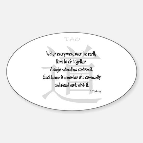 Tao I Ching Quote Oval Decal