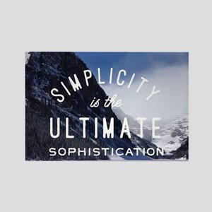 hipster mountain simplicity typography Magnets