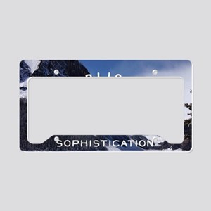 hipster mountain simplicity t License Plate Holder