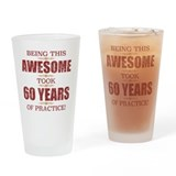 60th birthday for men Drinking Glass