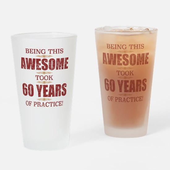 Cute 60th Drinking Glass