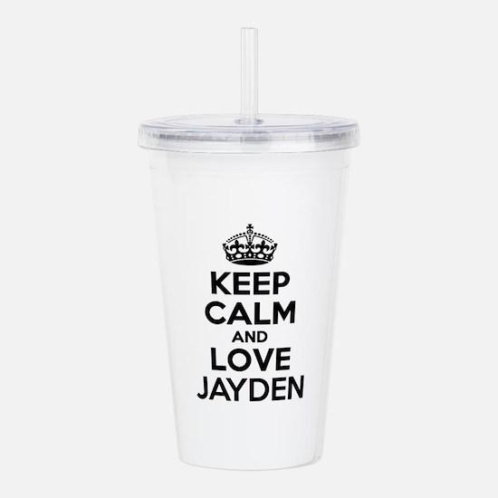 Keep Calm and Love JAY Acrylic Double-wall Tumbler