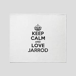 Keep Calm and Love JARROD Throw Blanket