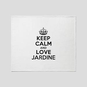 Keep Calm and Love JARDINE Throw Blanket