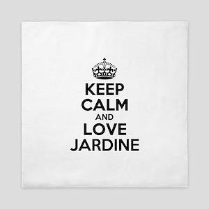 Keep Calm and Love JARDINE Queen Duvet