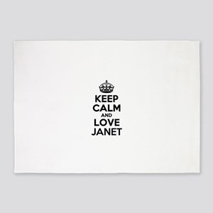 Keep Calm and Love JANET 5'x7'Area Rug