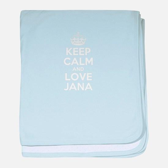 Keep Calm and Love JANA baby blanket