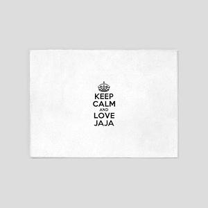 Keep Calm and Love JAJA 5'x7'Area Rug