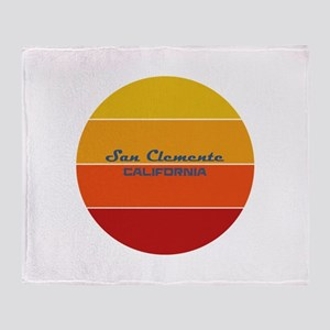 California - San Clemente Throw Blanket