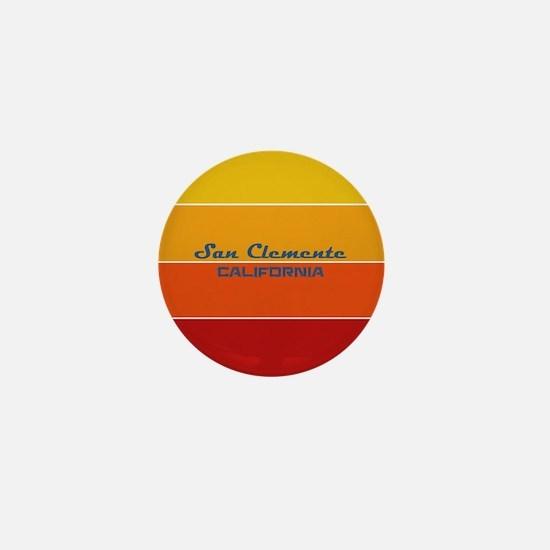 California - San Clemente Mini Button