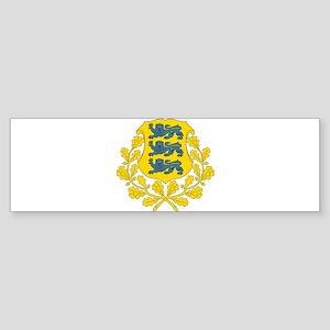Estonia arms Bumper Sticker