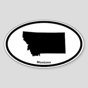 Montana State Outline Oval Sticker