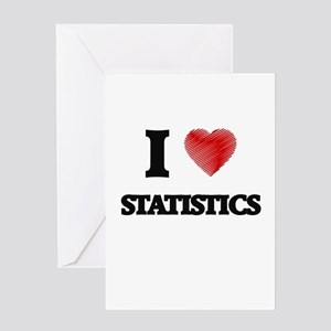 I love Statistics Greeting Cards