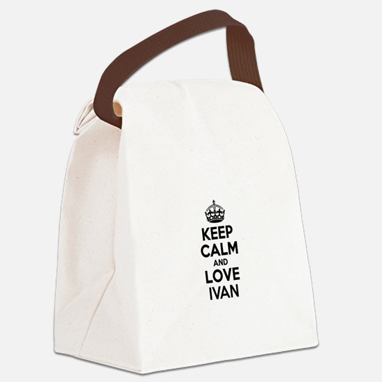Keep Calm and Love IVAN Canvas Lunch Bag