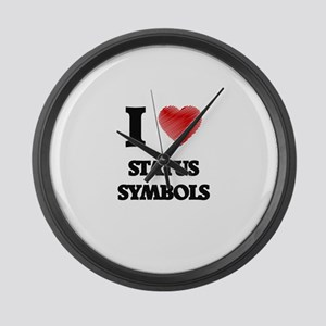 I love Status Symbols Large Wall Clock