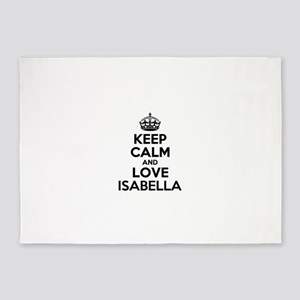 Keep Calm and Love ISABELLA 5'x7'Area Rug
