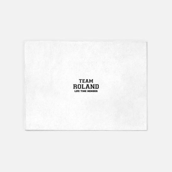Team ROLAND, life time member 5'x7'Area Rug