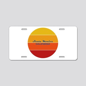 California - Santa Monica Aluminum License Plate