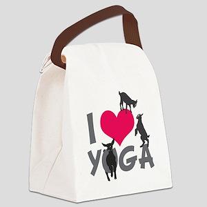 I Heart Goat Yoga | GetYerGoat™ Canvas Lunch Bag