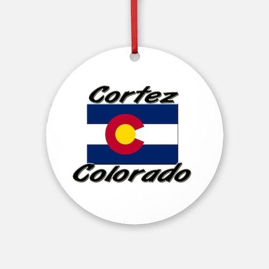 Cortez Colorado Ornament (Round)