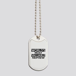World's Most Valuable Nephew Dog Tags