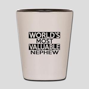 World's Most Valuable Nephew Shot Glass