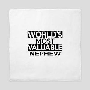 World's Most Valuable Nephew Queen Duvet