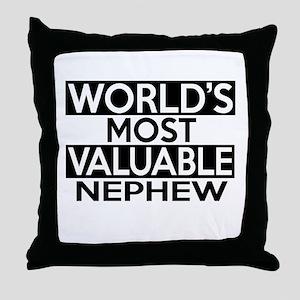 World's Most Valuable Nephew Throw Pillow