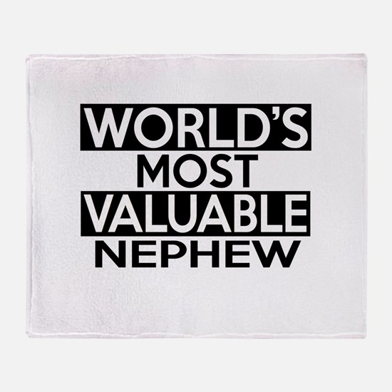 World's Most Valuable Nephew Throw Blanket