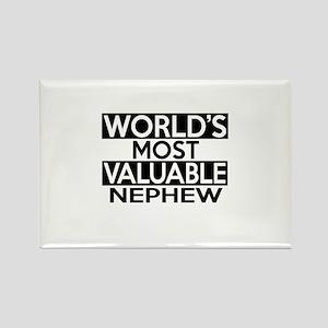 World's Most Valuable Nephew Rectangle Magnet