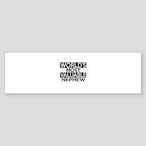 World's Most Valuable Nephew Sticker (Bumper)