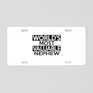 World's Most Valuable Nephe Aluminum License Plate