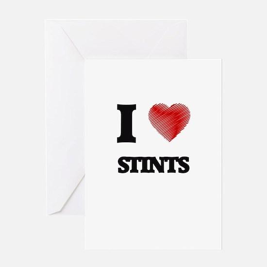I love Stints Greeting Cards