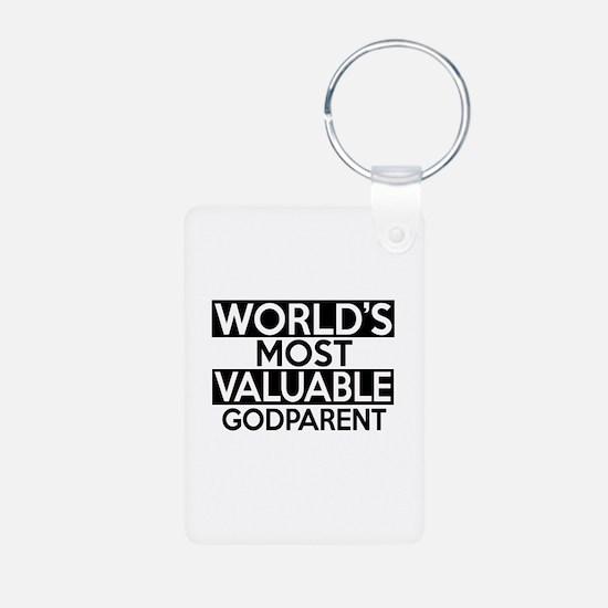World's Most Valuable Godp Aluminum Photo Keychain
