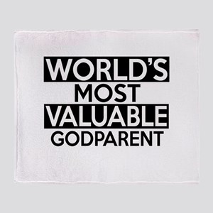 World's Most Valuable Godparent Throw Blanket