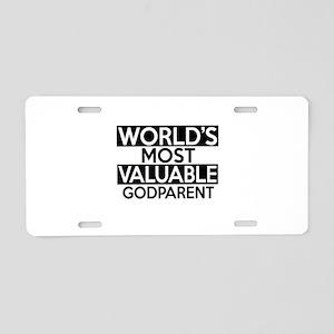 World's Most Valuable Godpa Aluminum License Plate
