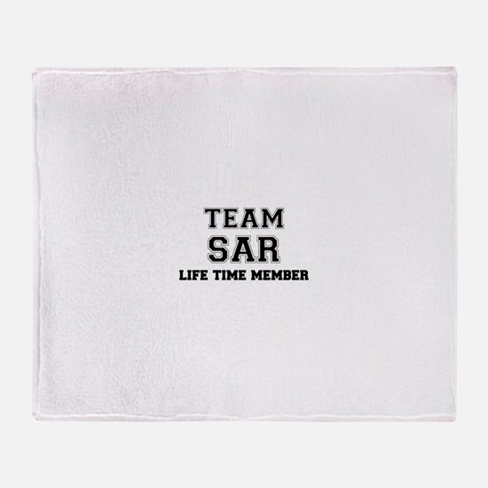 Team SAR, life time member Throw Blanket